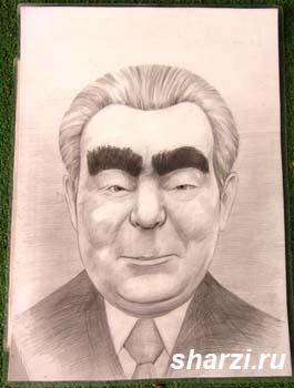 шарж Брежнев